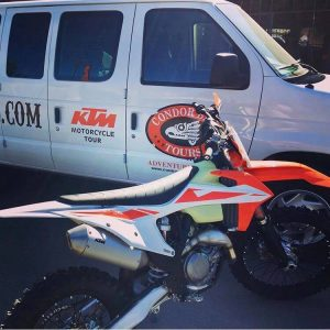 Cóndor Baja Tours/Jano's team KTM race bike for the 52nd edition of the Baja 1000.