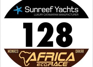 Nicola Dutto's number 128 for the Africa Eco Race 2020.